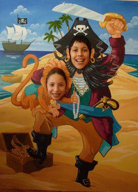 pirate standee cutout