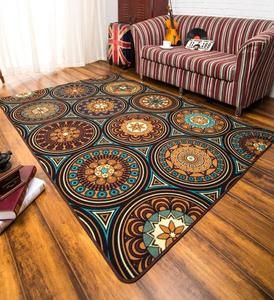 A Pic Ethnic Style Nylon Carpet, Floor Carpet and Rugs for Living Room, Dining Room, Bedroom