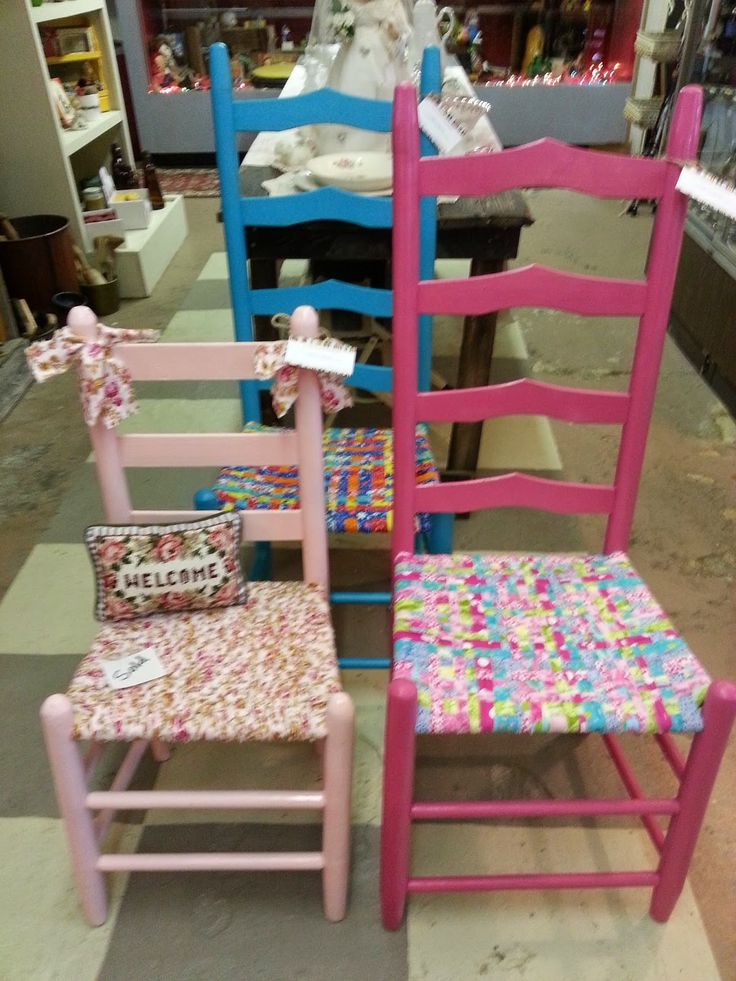 DIY: How to Weave a Fabric Chair Seat - lots of info on choosing the right fabric, cutting the strips, what type of chair to use and how to create a fabric seat. This is an awesome tutorial - via A Mcinnis Artworks