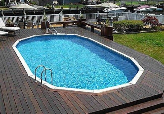 Semi Inground Pools With Decks Joy Studio Design Gallery