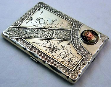 Silver And Enamel Card Case 1880