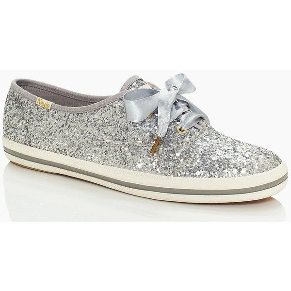 Kate Spade Keds For Kate Spade New York Glitter Sneakers ($80) ❤ liked on Polyvore featuring shoes, sneakers, keds, laced sneakers, kate spade, kate spade sneakers, sparkly shoes and tennis sneakers