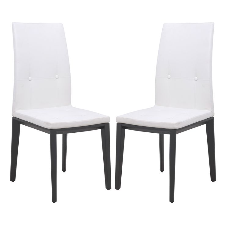 leisuremod somers white faux leather dining chair set of 2 dining chair in white leather set of 2