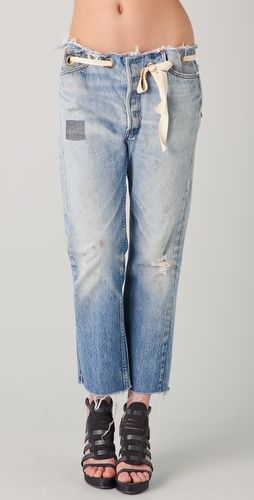 Karen Zambos Vintage Couture    Grommet Jeans so cute!