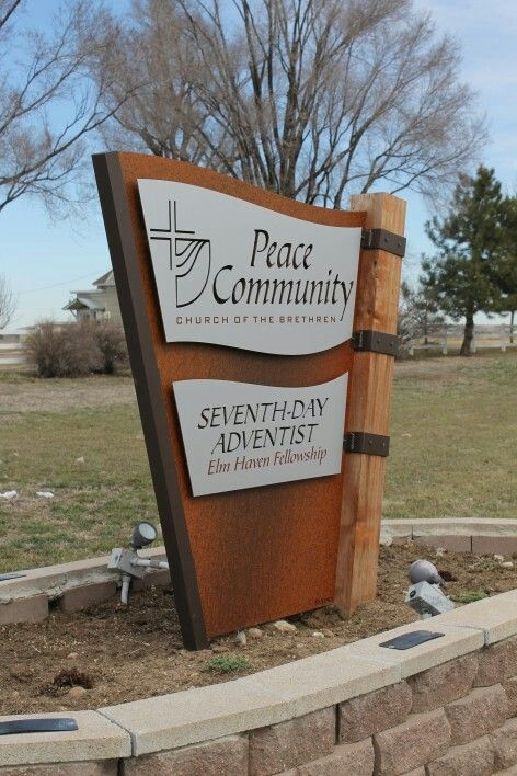 corten awning sign  Google Search  signage  Signage Design Monument signs Architectural signage