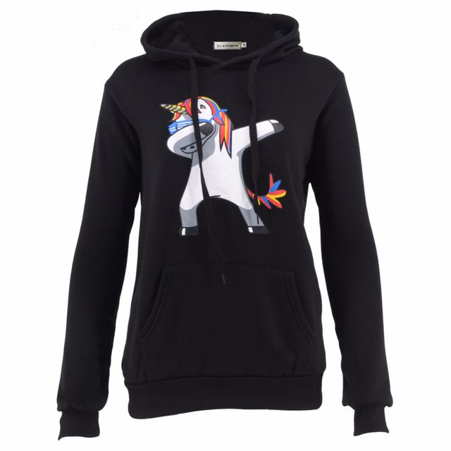 Womens Casual Hoodies Kawaii Female Tops Dabbling Unicorn Printing Sweatshirts Ladies Fleece Coat Sudaderas Mujer Baratas #Brand #XUANSHOW #sweaters #women_clothing #stylish_dresses #style #fashion