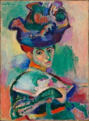 Henri Matisse, Woman with a Hat, 1905, oil on canvas, 79.4 x 59.7 cm (San Francisco Museum of Modern Art)