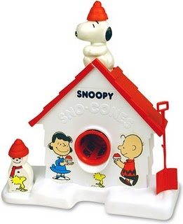 Snoopy Snow Cone Machine - I had one of these, but I don't think I ever got to use it. I wish I did.  Saw one of these at a store, and hubby offered to buy it.  But we really don't need it.