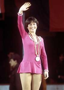 Dorothy Hamill 1976 Olympics... Every girl my age wanted the Dorothy Hamill haircut... and to be an ice skater ;)