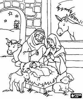 Nativity scene coloring pages, Nativity scene coloring book, Nativity scene printable color pages~ Lots of Coloring pages here (IDEA FOR THE HOLIDAYS~ FOLD A LARGE PIECE OF CONSTRUCTION PAPER IN HALF, PRINT OUT THESE COLORING SHEETS AND PLACE THEM INSIDE THE FOLD AND IT MAKES A COLORING BOOK FOR THE KIDDOS DURING THE HOLIDAYS. THEN THEY CAN DECORATE THE OUTSIDE OF THEIR BOOK WITH THEIR NAME AND STICKERS, ETC.)