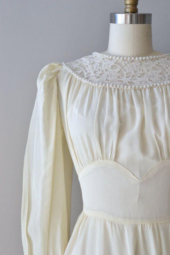 Jeanvieve wedding dress vintage 1940s wedding dress by DearGolden