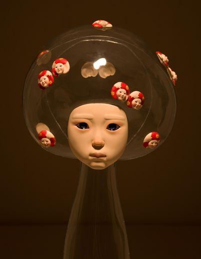 Korean artist Jin-Young Yu's transparent girls