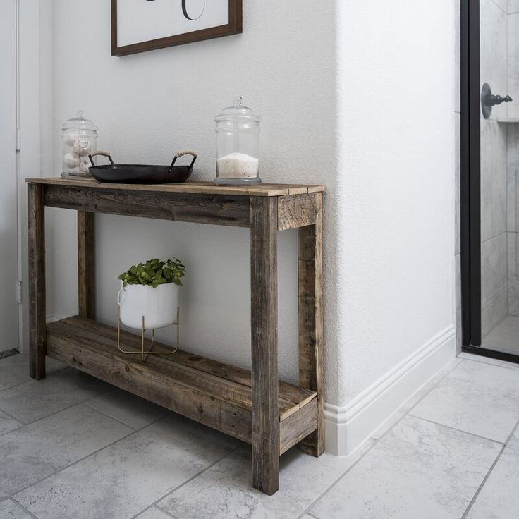 Highland dunes scholz 46 solid wood console table