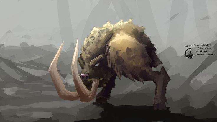 #animal #boar #gamedev #conceptart #painting #elysianshadows #indie