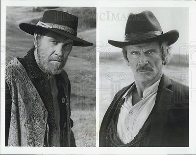 1987 Press Photo Earl Holliman & Steve Forrest Star In Gunsmoke: Return To Dodge