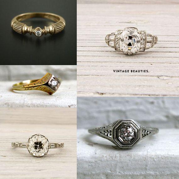 vintage rings > modern rings