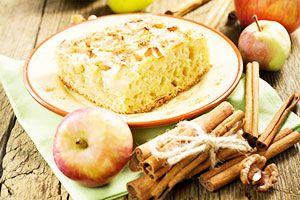 Классическая шарлотка с яблоками