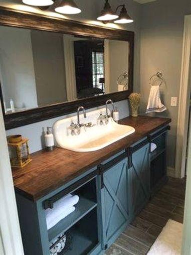Barn Door Bathroom Vanity (Free Shipping) #RusticBathrooms Black