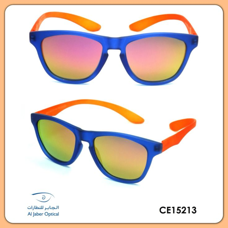 Centrostyle Koala now has kids version sunglasses and it comes with different color combination, CE-15213 has Blue frame, Orange temple and with Polarized Orange Mirror lenses.