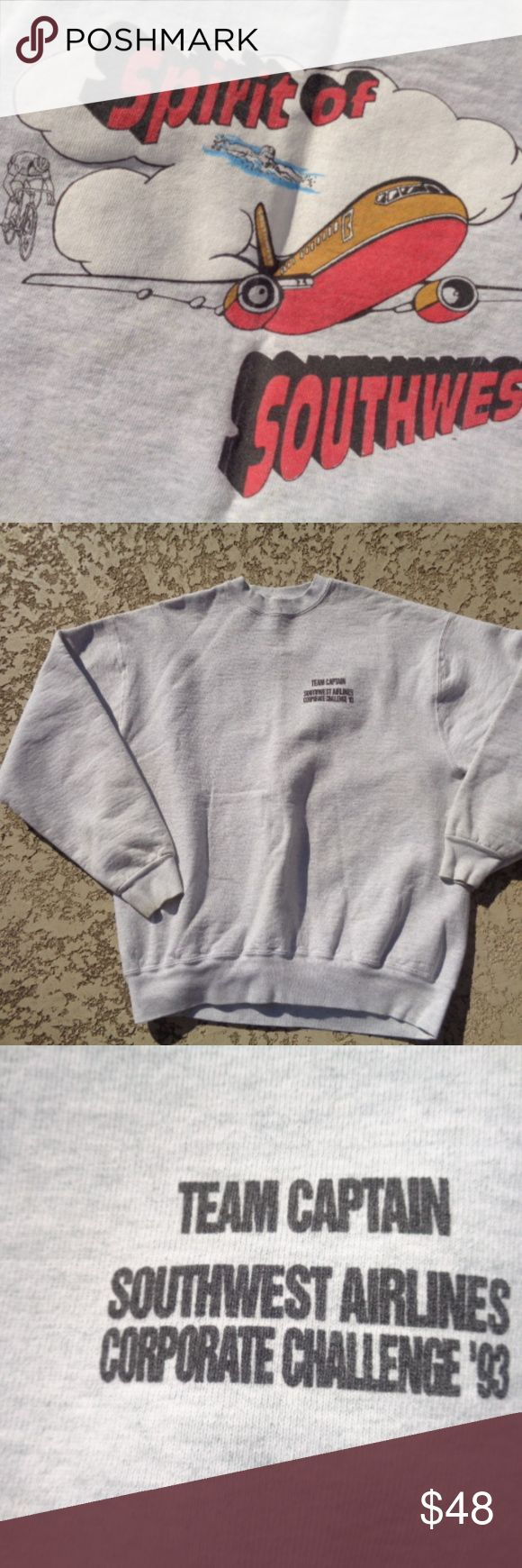 vintage Southwest sweat shirt size XLarge vintage Southwest sweat shirt size XLarge There is a few spots on this-Its been in closet for years I did not wash-selling as is collectible Vintage Shirts Tees - Long Sleeve