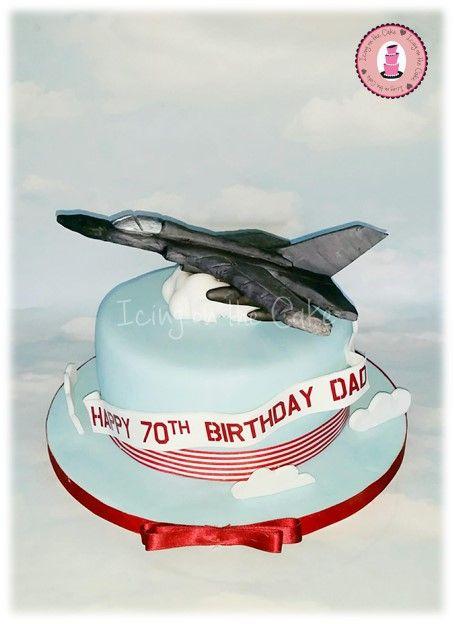 tornado jet plane birthday cake