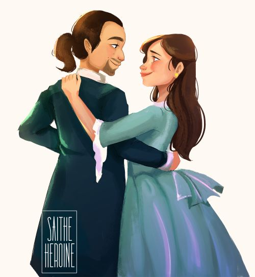 """Let this moment be the first chapter: Where you decide to stay and I could be enough."" (Alexander and Eliza Hamilton)"