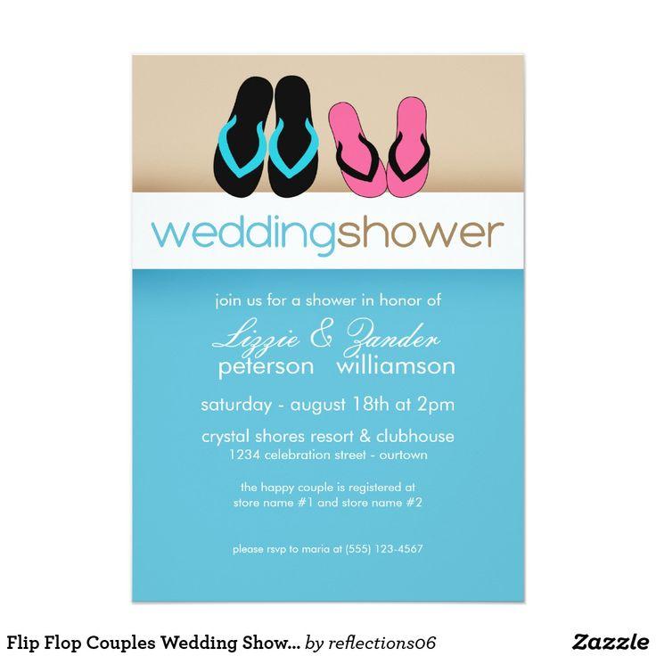 Flip Flop Couples Wedding Shower Invitations