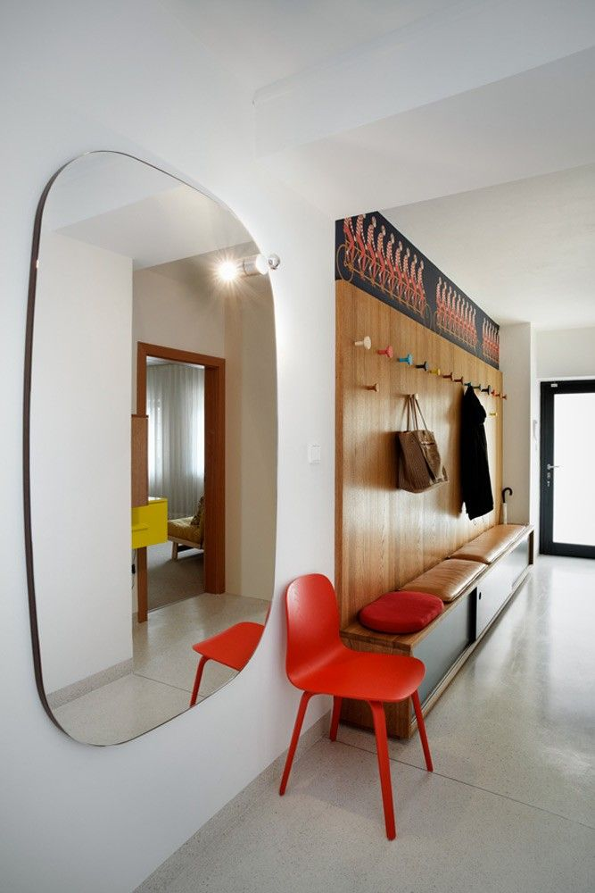 If you have a small flat, pop a mirror in the wall, this will make the flat look bigger, and it`s also great to check out you`re outfit when you are rushing out the door.