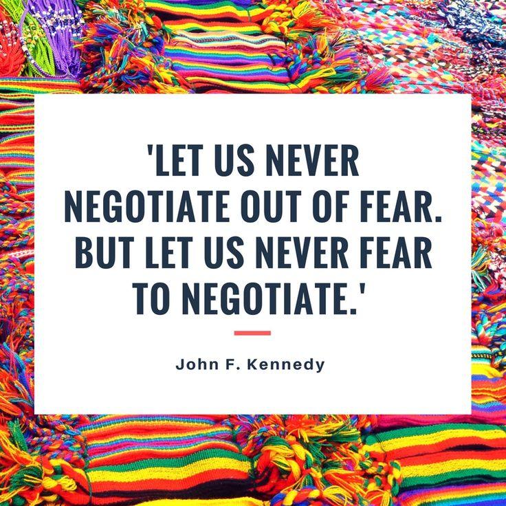 「恐れに基づいて話し合うべきではない。だからといって、話し合うことを恐れてはならない。」 #ジョン・F・ケネディ 元大統領 #JohnFKennedy #Quote