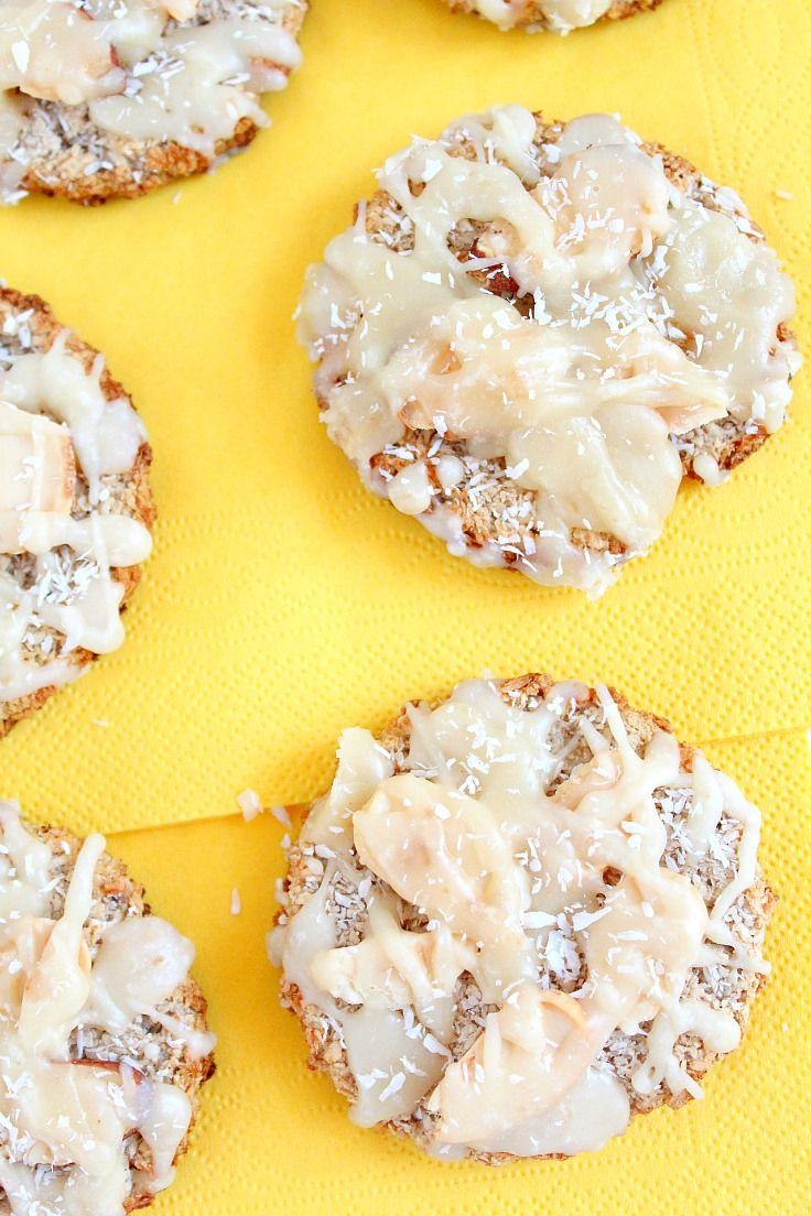 Banana coconut cookies | potluck at ohmyveggies.com