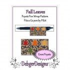 Bead Pattern Peyote(Pen Wrap/Cover)-Fall Leaves
