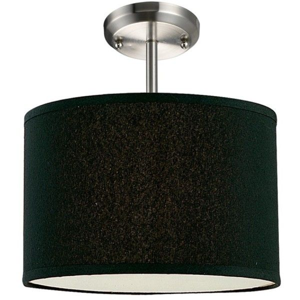 Z-Lite Albion Black Drum Semi-Flush Mounted Ceiling Light (120 CAD) ❤ liked on Polyvore featuring home, lighting, ceiling lights, lamps, semi flush mount lighting, black lamp shade, drum lampshade, ceiling mount lights and black lampshade