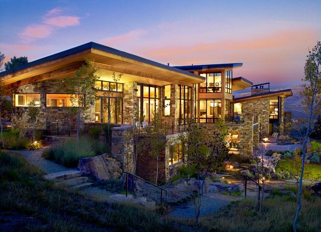 24 stunning modern mountain homes ideas modern luxury for Mountain dream homes
