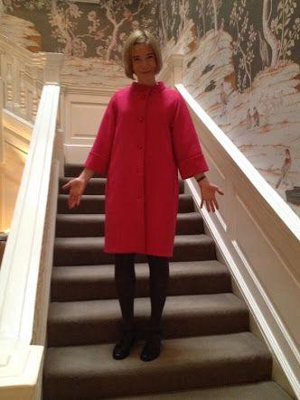 Lucy Worsley pink coat