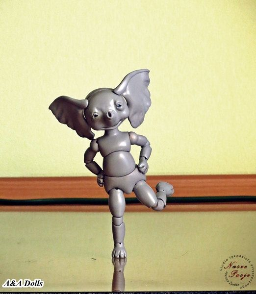 Preorder for BJD Elephant Eli in resin by Joanna Żarska by NaszePasje on Etsy