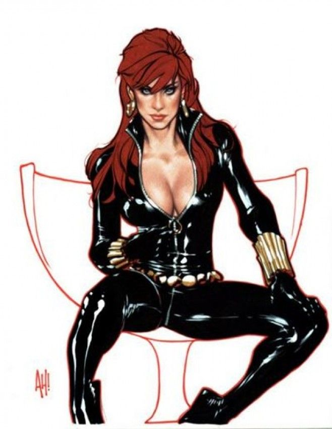 black widow sexy - Black Widow, Adam Hughes