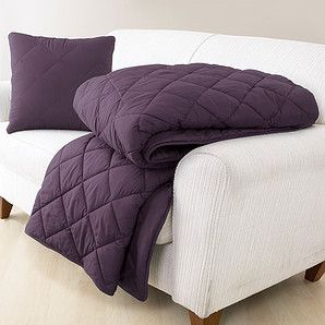 Quillow - Aubergine Cushion Quilted Blanket