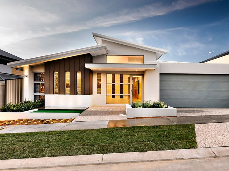 Single storey skillion roof google search house for Single story 4 bedroom modern house plans