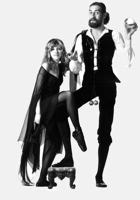 Fleetwood Mac - Stevie Nicks & Mick Fleetwood. The Rumours photoshoot