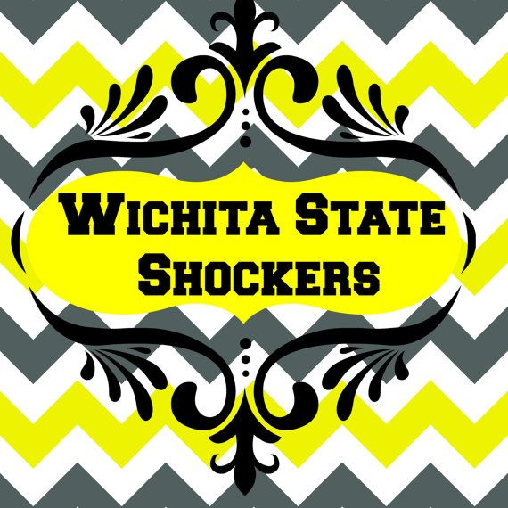 Wichita State Shockers! So Cute! Chevron is so in!
