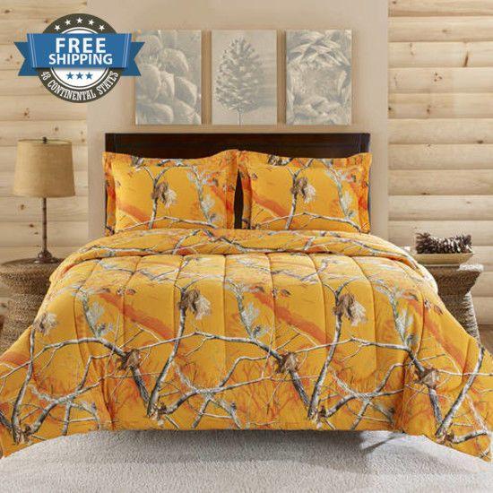 Bedding Set,Queen Size,Comforter Cover,Matching Sets Twin,3 Pc,Microfiber orange #Generic