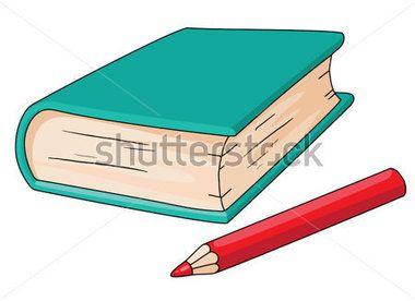 illustration d'un livre et un crayon