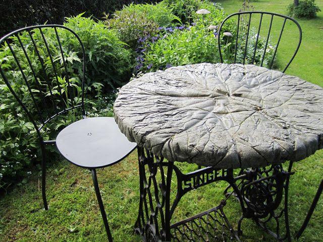 Tårtor och Trädgård: Rabarberblads bord..