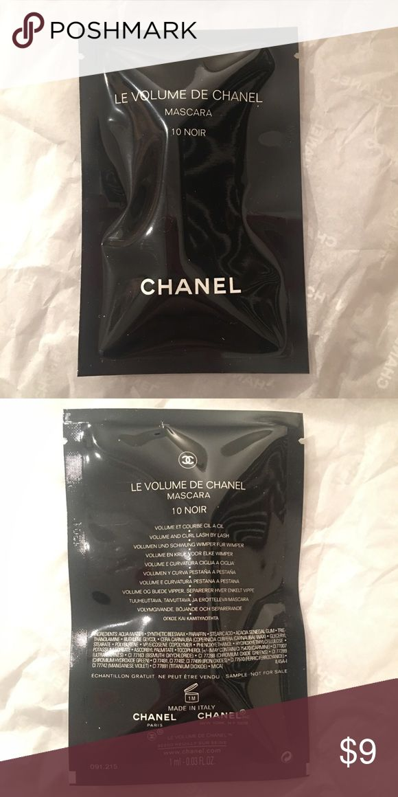 Chanel LE Volume De Chanel Mascara 10 Noir Black Chanel LE volume de Chanel Mascara #10 noir - black Perfect travel sized - 0.03 oz Sealed in a bag Fresh and authentic New and sealed and never used This closet does not trade Smoke free home CHANEL Makeup Mascara