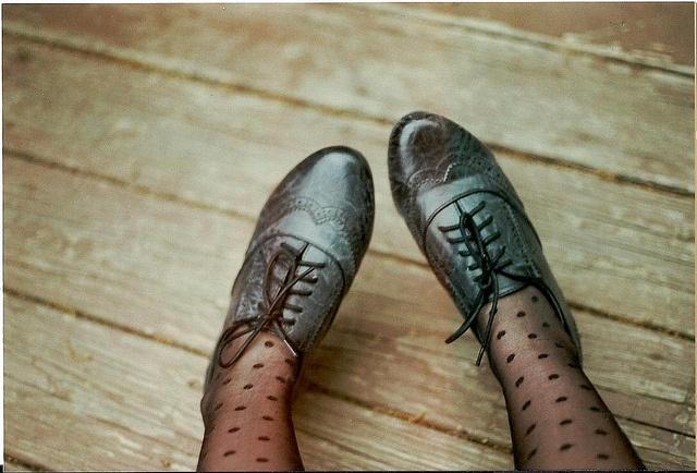 Polka Dot Tights, Fashion, Lace Tights, Clothing, Oxfords Shoes, Socks, Polka Dots Tights, Black, Vintage Style