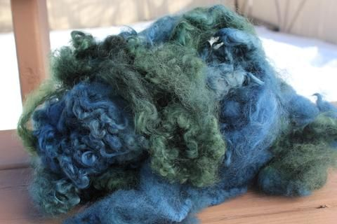 Teal Mix Hand Dyed Locks – FireFlyFibreArts