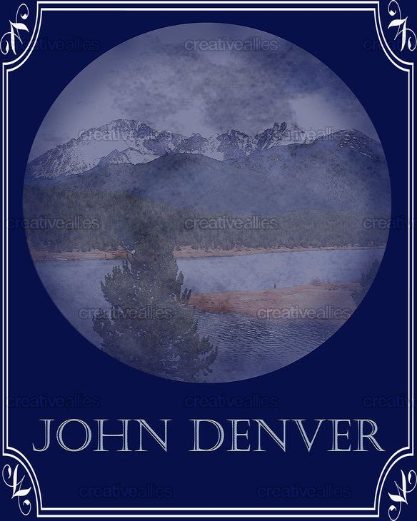 John Denver Poster by Laura Isbell Talley on CreativeAllies.com