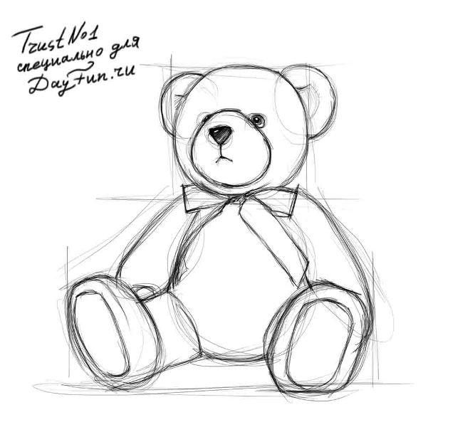 медвежонок рисунки карандашом книга
