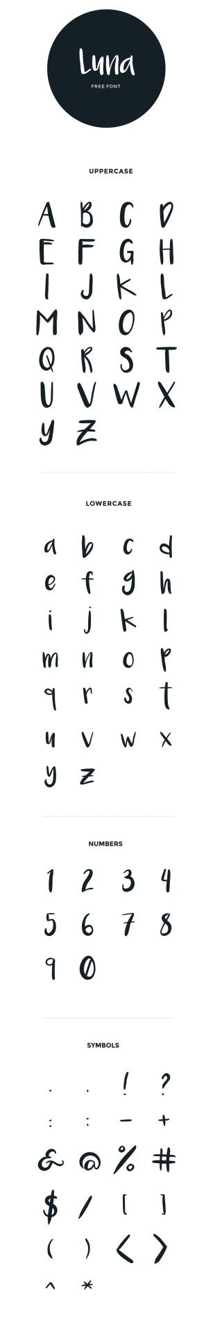 Fonts i Like | Fonts i Have | Fonts i Want - Luna - handwritten brush font