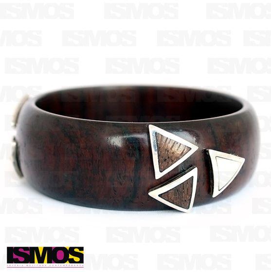 ISMOS Joyería: brazalete de madera y plata // ISMOS Jewelry: wood and silver bangle